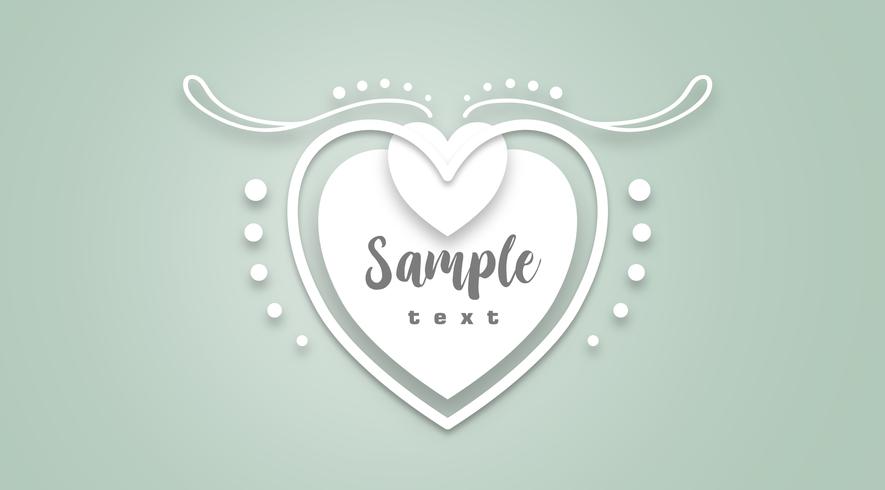 Het witte hart vector illustratie knippen SVG-bestand.