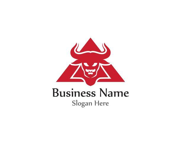 Logotiervektor des Stierkopfhorns roter