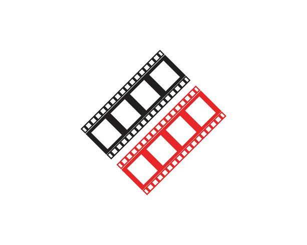 modelo de ilustração do filme tira ícone vector