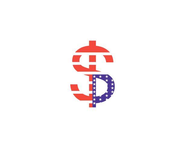 Vector de ilustración de icono de vector de dinero