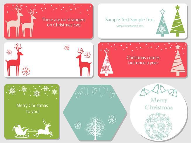Set di cartoline di Natale assortiti.