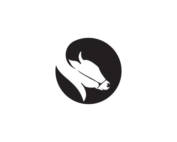 Kuh Kopf Logo Vorlage Vektor