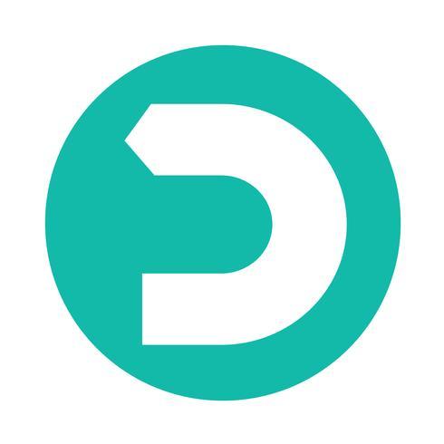 einfache Pfeilsymbol Zeichen