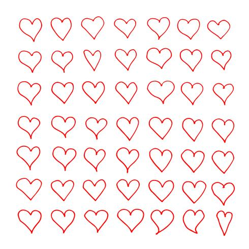 Hand drawn heart icon vector