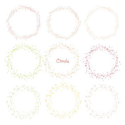 Verzameling van decoratieve ronde frames. Vector illustratie.