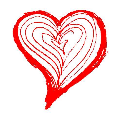 Segno dell'icona del cuore disegnato a mano