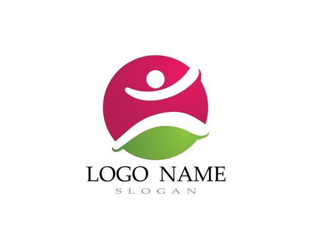 Adoptie kinderen logo en symbool gezondheid vector