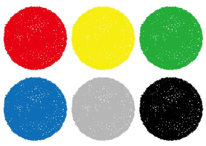 Ensemble de milieux de texture colorée crayon isolé sur fond blanc.