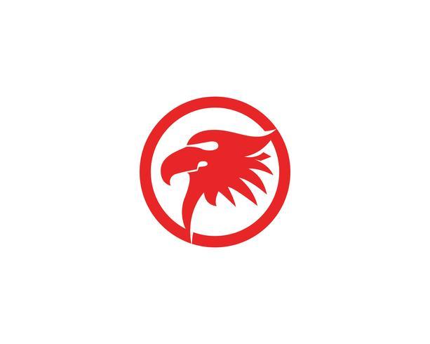 Adlerhauptvogellogo und Symbolvektor