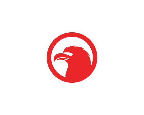 Eagle head bird logo och symbol vektor