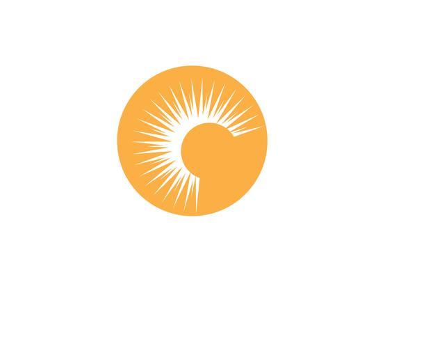 Sun logo and symbols star icon web Vector -