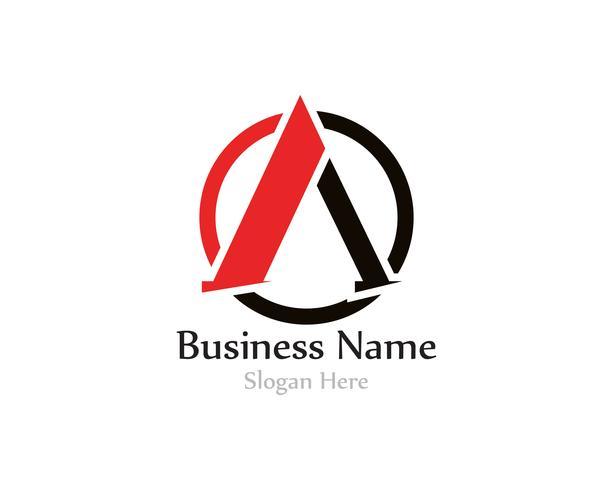 Un logotipo de la letra con Swoosh vector