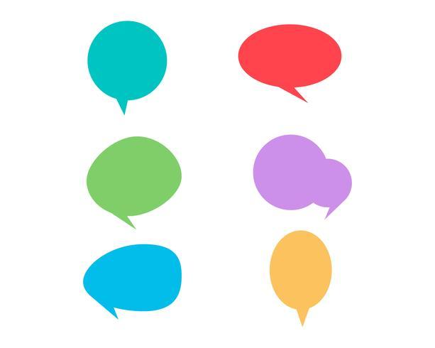 Icône de bulle de dialogue Logo template vecteur