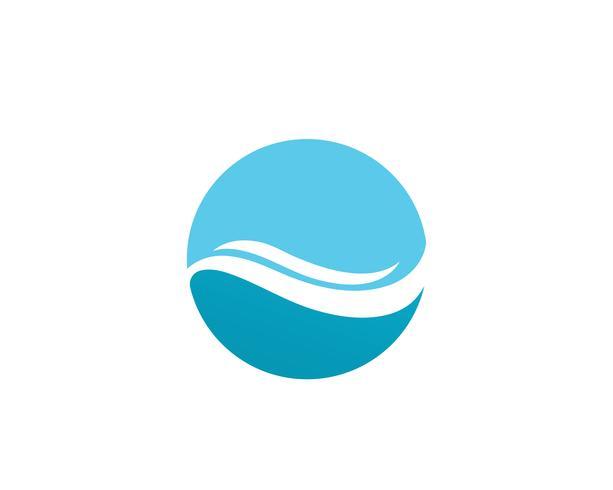 vettore della spiaggia di logo dell'acqua dell'onda
