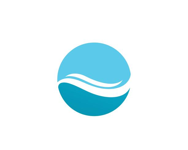 ola agua logo playa vector