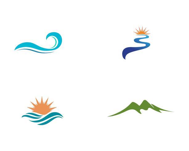 Rivier Logo sjabloon vector pictogram