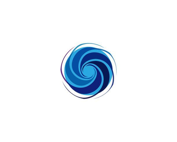 Vortex logo y simbolo vector
