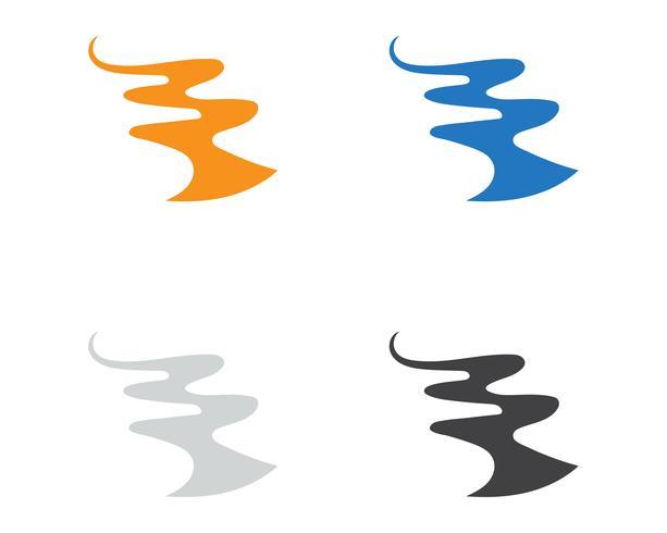 Vettore dell'illustrazione dell'icona di vettore di Logo Logo del fiume