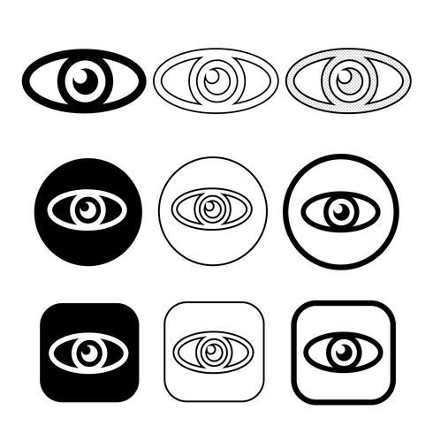 Set sign of Eye icon vector