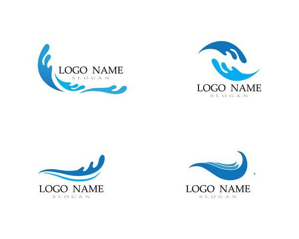 vague eau logo plage