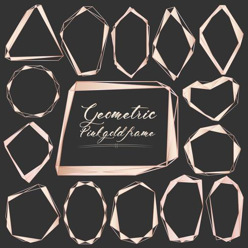 Set Di Cornice Geometrica In Oro Elemento Decorativo Per