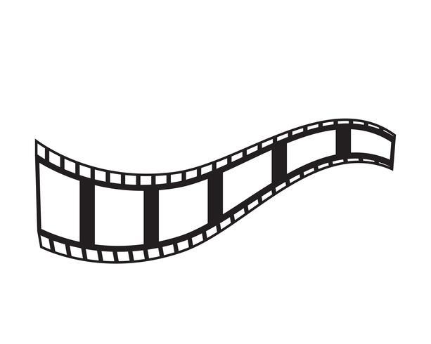 filmremsa ikon vektor illustration mall