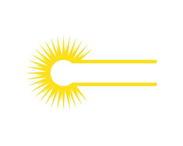 Zon logo en symbolen ster pictogram web Vector -