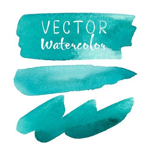Set of watercolor brush on white background. Vector illustration