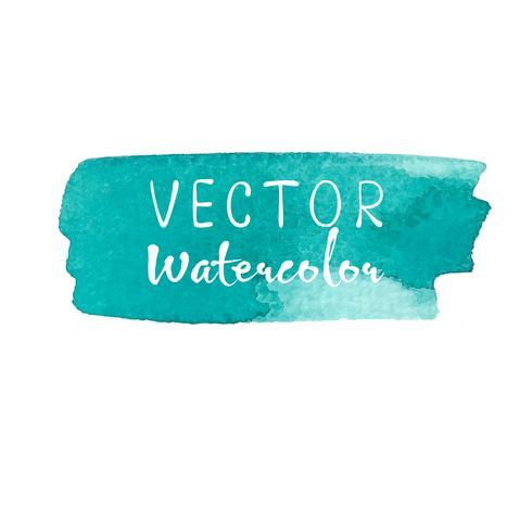 Mint akvarell bakgrund, Pastell akvarell logotyp, Vektor illustration.