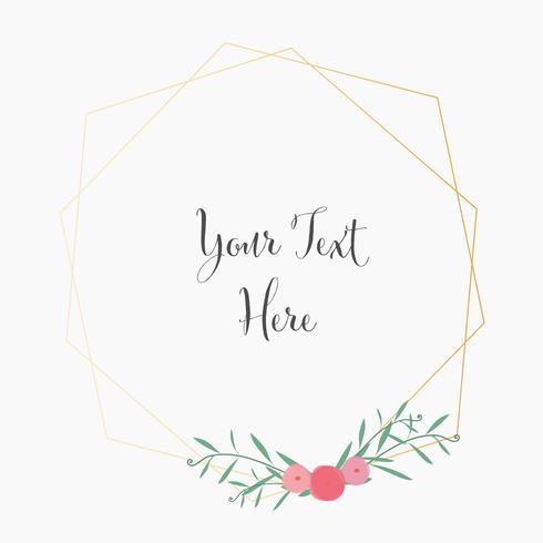 Invito a nozze, disegno di carta invito floreale. Illustrazione vettoriale