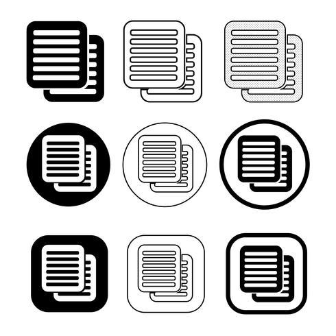 simple icône de fichier de document. Signe papier doc