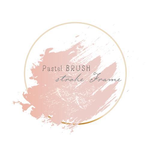 Pastell Pinselstriche Rahmen. Vektor-illustration