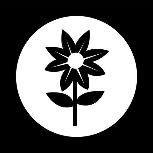 Icono de flor vector