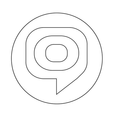 icono de burbuja objetivo