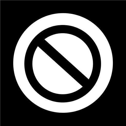 Icono de señal de stop