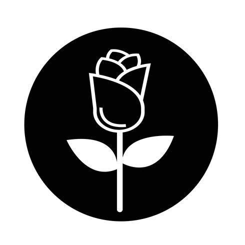 icono de rosa