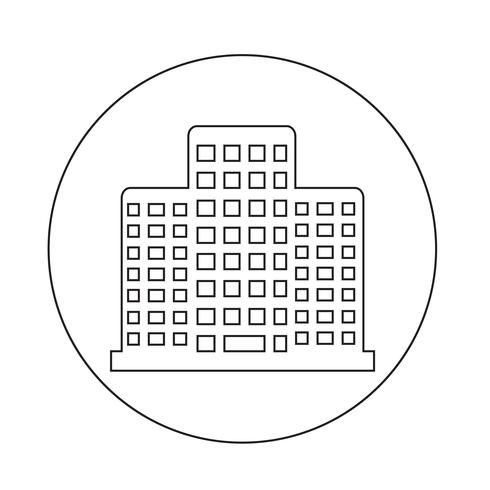 Kontorsbyggnadsikon vektor