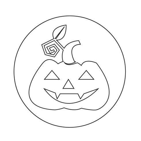 Icona della zucca di Halloween