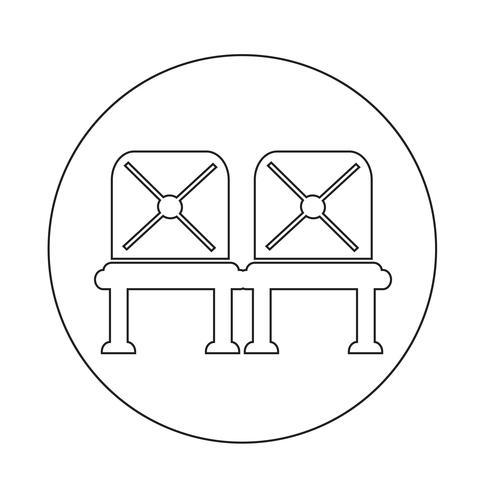 Icona del sedile dell'aeroporto in attesa
