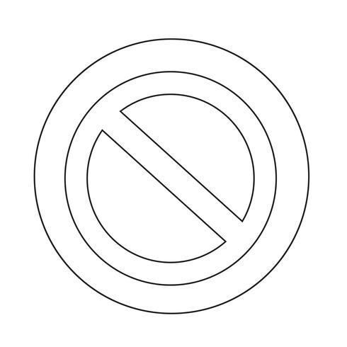 Icona del segnale di stop