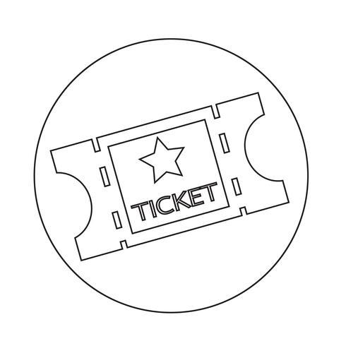 icona del biglietto del cinema vettore