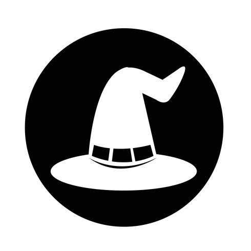 halloween witch hat icon