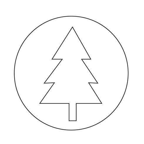 Icono de arbol de navidad