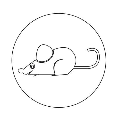 Maus Ratte-Symbol