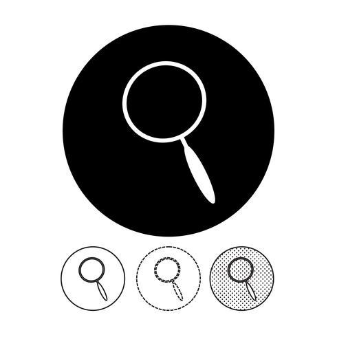 Zoek pictogram teken