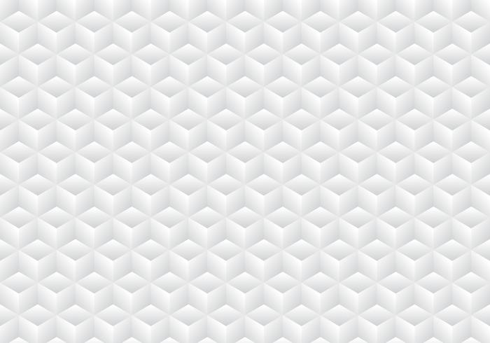 3D realistic geometric symmetry white and gray gradient color cubes pattern background and texture. vector