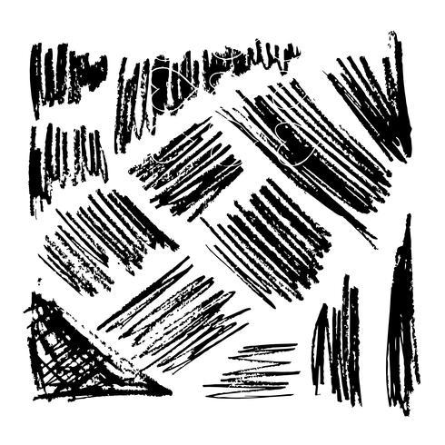 handritad penselbläckskisslinje