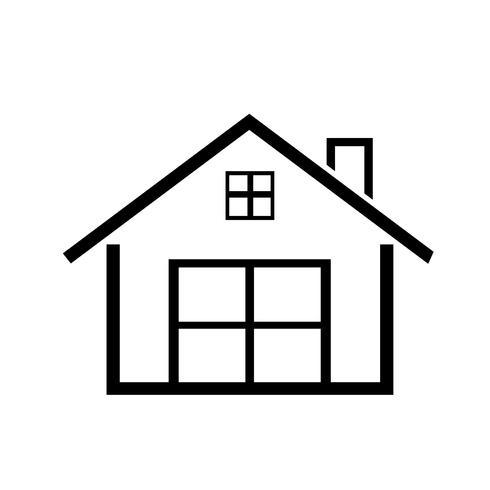 símbolo simples ícone em casa