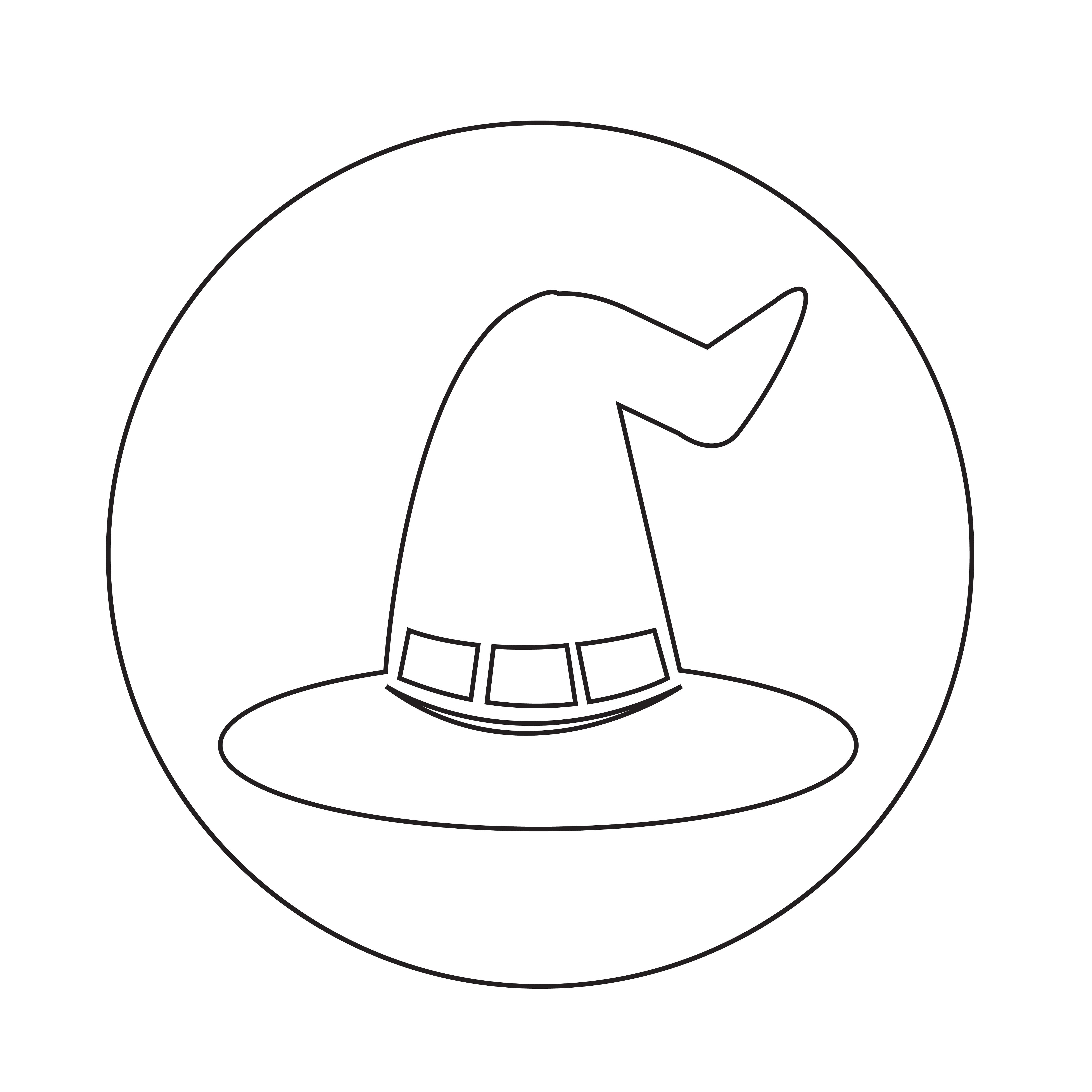 halloween witch hat icon - Download Free Vectors, Clipart ...
