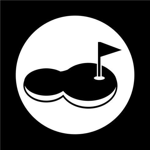 ícone de campo de golfe